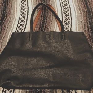 Urban Outfitters black/brown reversible tote bag